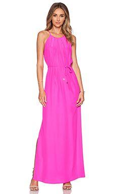 Amanda Uprichard Perry Maxi Dress in Hot Pink Light