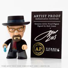Breaking Bad - Heisenberg   TITANS Vinyl Figures, produced by Titan Merchandise (UK), designed by vinyl toy artist Matt Jones aka Lunartik.