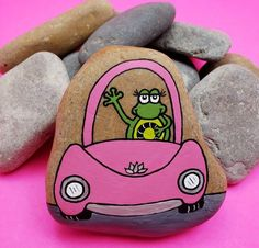 Step by Step Stones by StepbyStepStones on Etsy Pebble Painting, Pebble Art, Stone Painting, Painted Rock Animals, Painted Rocks Kids, Painted Pebbles, Rock Painting Ideas Easy, Rock Painting Designs, Painting Tutorials