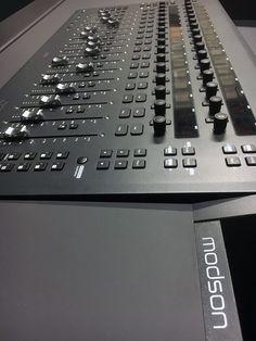 Modson studio furniture for recording and mastering studio Home Recording Studio Setup, Home Studio Setup, Studio Desk, Studio Furniture, Audio Studio, Music Studio Room, Sound Studio, Studio Equipment, Computer Setup