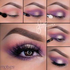 Lovely Summery Lavender Lids using Motives Cosmetics. I can't wait to try this one!