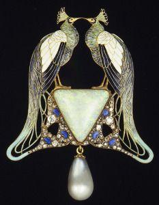 Reneè Lalique, Uccelli, pendente, 1898