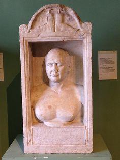 Sepulchral stone of Iulius Elius Iulius, a shoemaker, from Centrale Montemartini Museum, Rome.