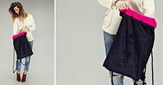 DIY: A Denim backpack with leather elements http://www.pracowniajanlesniak.pl/en/diy-a-denim-backpack-with-leather-elements/