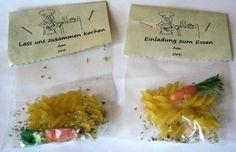 Einladung Essen / zusammen kochen - Tütenzauber von ღKreawusel-Designღ auf DaWanda.com