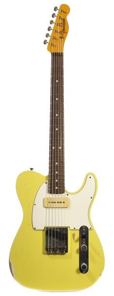 Fender Custom Shop Telecaster w/P-90 Faded Graffiti Yellow