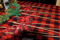 S'mores Party Favors - Lumberjack 1st Birthday Party theme - Buffalo Check Red Black Plaid Party Decorations