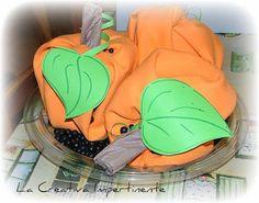 La Creativa Impertinente: Halloween Tutorial: zucche in centrotavola
