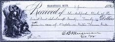 Receipt for fine paid by Walter Thomas Mills, June 6, 1895 – Schoolcraft Co. Circuit Court Archives