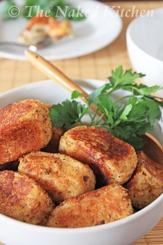 Appetizer: Potato-Croquettes (my filling of choice: corned beef and onions)