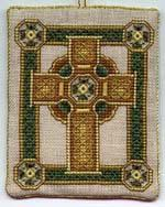 Celtic Cross - cross stitch with instructions