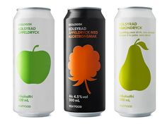Food packaging graphics by Stockholm Designlab. Don't need to know the language to know what you're drinking.