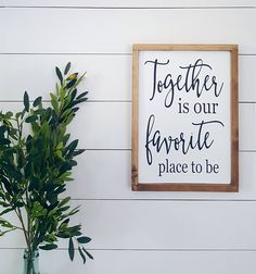 Together is our favorite place to be-Love Quote-Wood Sign-Bedroom Decor-Family Signs-Together Sign-Craftmeupdecor