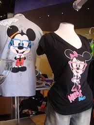Minnie and Mickey nerd shirts