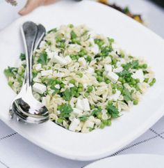 Pasta Salad with Peas, Lemon and Goat Cheese
