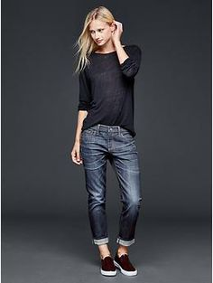 1969 lunar selvedge girlfriend jeans | Gap