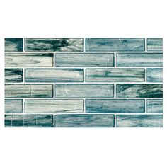 "Complete Tile Collection Zumi Glass Mosaic - Sea Spruce - Natural, 1-3/8"" x 5-3/4""  Large Brick  Recycled Glass Mosaic, MI#: 038-G2-263-405, Color: Sea Spruce"