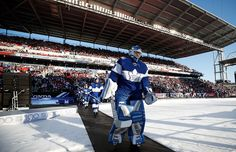 Leafs take to the ice for the Centennial Classic Outdoor Game vs Detroit Jan 1, 2017