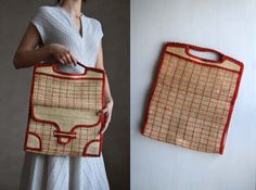 Image result for vtg 70s plaid bag
