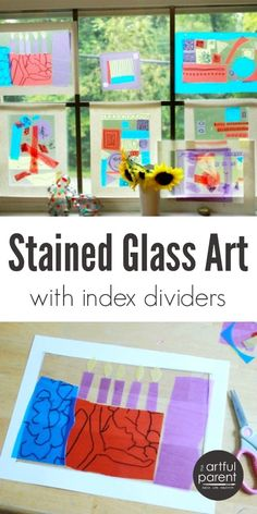 Stained Glass Art Project para Niños con divisores Índice