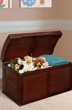Hardwood Barrel Top Toy Chest in Cherry - Badger Basket Basket's sturdy Barrel Top Toy Chest is the perfect place for stashing your child's special treasures, and can also be used as easily accessible storage for linens and bedding Toy Storage Boxes, Toy Boxes, Bin Storage, Storage Trunk, Hidden Storage, Toddler Furniture, Laminated Mdf, Trunks And Chests, Top Toys