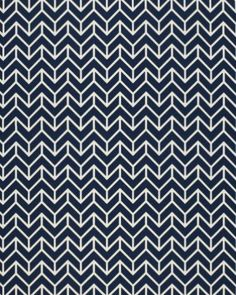 "Chevron Print Fabric by F. Schumacher & Co. Dimensions: 54"" width. 2.75"" vertical repeat. Made of 100% cotton. Available in 3 colorways."