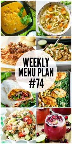 Get dinner on the table in a snap with these Weekly Menu Plan recipes! via @realhousemoms