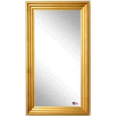 """Check out the Rayne Mirrors R018TF Jovie Jane 29-1/2"""" x 64-1/2"""" Gold Steps Floor Mirror"""