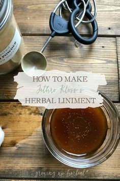 How To Make Jethro Klosss Herbal Liniment | Growing Up Herbal | Heres a recipe for an external herbal disinfecting solution to include in your natural medicine cabinet! Natural Headache Relief, Natural Headache Remedies, Natural Health Remedies, Cramp Remedies, Remedies For Menstrual Cramps, Holistic Remedies, Herbal Remedies, Natural Medicine, Herbal Medicine