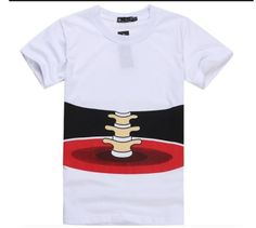 Man/Woman Chic Stereo Bone Printed Funny Cotton Short Sleeve Unisex T-shirt T Shorts, Cotton Shorts, 3d T Shirts, Funny Tshirts, Horror, Tee Online, Aliexpress, Printed Tees, Short Sleeve Tee