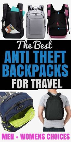 THE BEST ANTI THEFT BACKPACKS FOR TRAVL BACKPACKS - We have taken all the best brands, reviewed them and made this easy to read post. Click to find out more. Enjoy.