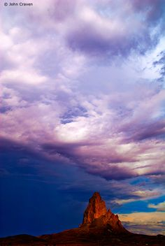 Photo of the Day   A breathtaking cloudscape shrouds a rock formation in Monument Valley.  © John Craven