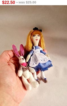 SALE Little cloth doll Alice in Wonderland and by MaryankaDolls