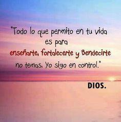 Dios siempre tiene en control