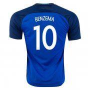 2016 France Soccer Team BENZEMA #10 Home Replica Jersey [D619]