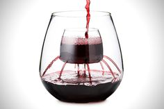 Stemless Aerating Wine Glasses by Chevalier Collection (Set of - Wine Aerator Red Wine Glasses, Wine Refrigerator, Wine Fridge, Cheap Wine, Shipping Boxes, Wine Gifts, Wine Decanter, Gourmet, Gifts