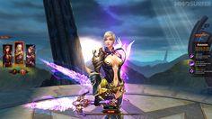 Dies ist die Schurkin aus dem Online-Rollenspiel Dark Era. Die Rüstung ist episch.