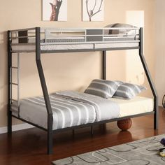 Have to have it. Silver Screen Twin over Full Bunk Bed $379.99