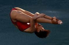 Tingmao Shi of China competes in the Women's Diving 3m Springboard Final on Day 9 of the Rio 2016 Olympic Games at Maria Lenk Aquatics Centre on August 14, 2016 in Rio de Janeiro, Brazil.