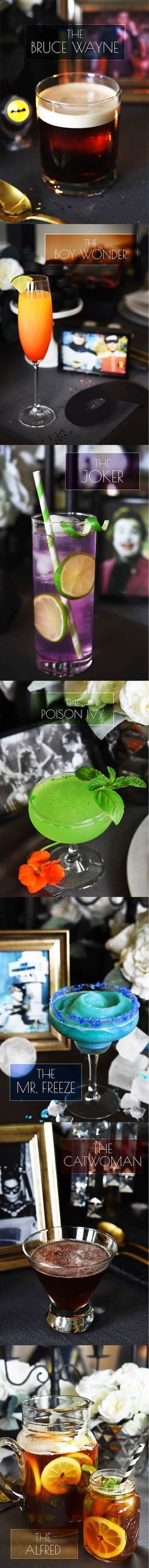 7 Batman themed cocktails & drinks for your adult superhero party! Yum Holy Cow Batman! #cocktails inspired by #Batman