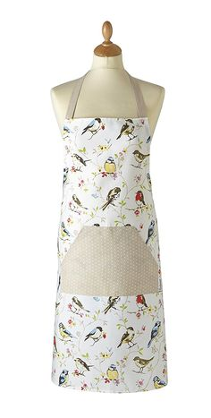 Dawn Chorus Design 100 Cotton Apron With Front Pocket by Cooksmart - 12117 for sale online Retro Fashion, Retro Vintage, Apron, Pocket, Cotton, Ebay, Dawn, Design, Kitchen Decor