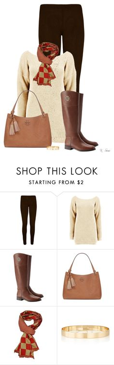 """""""Burch riding boots"""" by ksims-1 ❤ liked on Polyvore featuring WearAll, Tory Burch and Jules Smith"""