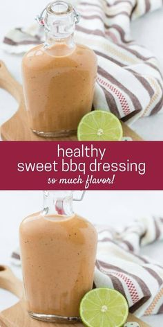 Sweet and tangy, BBQ salad dressing is easy to make! Use your favorite barbecue sauce to make your own zesty dressing. Homemade Dressing Recipe, Ranch Dressing Recipe, Homemade Ranch Dressing, Salad Dressing Recipes, Bbq Salads, Grilled Bbq Chicken, Vegetarian Barbecue, Homemade Seasonings, Barbecue Sauce