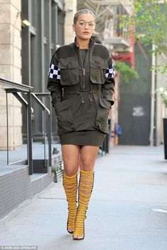 Military style fetish tops