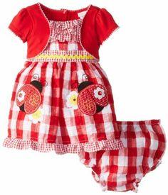 Youngland Baby-Girls Newborn Mock Shurg Seersucker Ladybug Dress, http://www.amazon.com/dp/B00IR2ZYS6/ref=cm_sw_r_pi_awdm_nuCqtb1D6C7GK