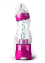 Cool baby bottle! - Add the formula at the bottom and water up top then twist when you need the bottle made... Mind Blown!!!