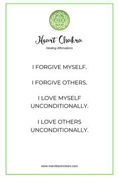 Here are 20 affirmations to raise the vibration of your Heart Chakra: Heart Chakra Meditation, Heart Chakra Healing, Solar Plexus Chakra Healing, Healing Affirmations, Positive Affirmations, Positive Quotes, Positive Thoughts, Qi Gong, Yoga Nature