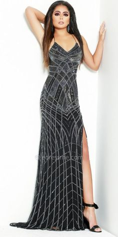 5223dafcde Dance the night away in the Geometric Beaded Crossback Prom Dress from Lush  by Jasz Couture