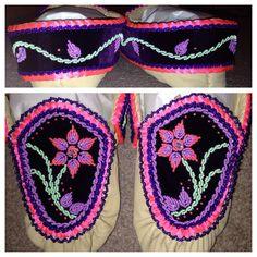My latest completed order! Pink/purple haudenosaunee raised beadwork moccasins! :)
