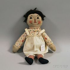 Volland Raggedy Ann Cloth Doll